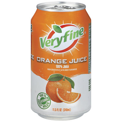 Veryfine Orange 100% Juice 11.5 Oz Pull-Top Can