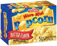 Springfield Micro-Mini Butter Flavor 1.5 Oz Bags Popcorn 5 Ct Box
