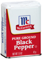 McCormick® Pure Ground Black Pepper 1.5 oz. Tin
