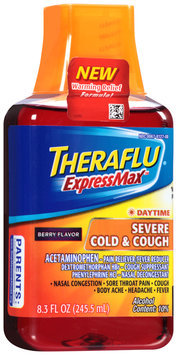 Theraflu® ExpressMax™ Daytime Berry Flavor Severe Cold & Cough Liquid 8.3 fl. oz. Bottle