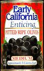 EARLY CALIFORNIA Medium Pitted Ripe Olives 6 OZ CAN