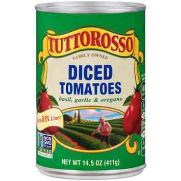 Tuttorosso® Basil, Garlic & Oregano Diced Tomatoes 14.5 oz. Can