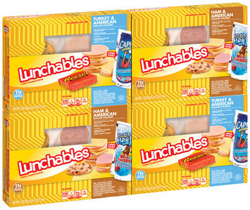 Lunchables Ham & American/Turkey & American Cracker Stackers Lunch Combination Variety Pack 4 ct Boxes