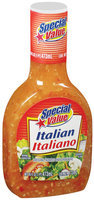 Special Value Italian Dressing 16 Fl Oz Plastic Bottle