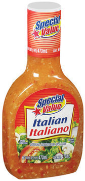 Special Value Italian Dressing 16 Fl Oz Plastic Bottle