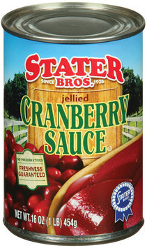 Stater Bros. Jellied  Cranberry Sauce 16 Oz Can