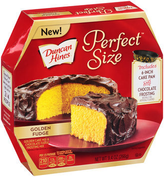 Duncan Hines® Perfect Size™ Golden Cake Mix & Chocolate Fudge Frosting Mix