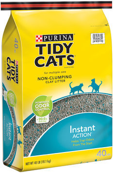 Purina Tidy Cats Non-Clumping Cat Litter Instant Action for Multiple Cats 40 lb. Bag