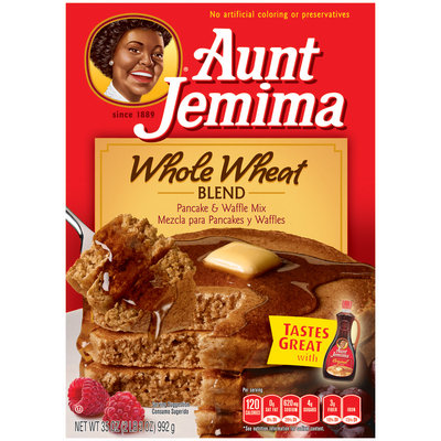Aunt Jemima Whole Wheat Blend Pancake & Waffle Mix 35 Oz Box