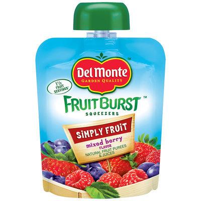 Del Monte® Simply Fruit Mixed Berry Flavor Fruit Burst Squeezers 3.2 oz. Pouch