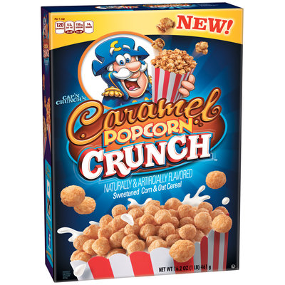 Cap'N Crunch's Caramel Popcorn Crunch™ Sweetened Corn & Oat Cereal 16.2 oz. Box