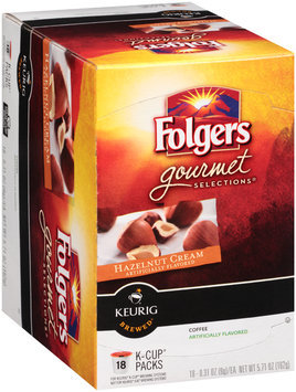 Folgers Gourmet Selections® Hazelnut Cream Coffee K-Cup® Packs 18 ct Box