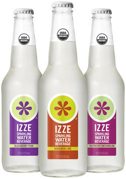 Izze® Blackberry Pear/Mandarin Lime/Raspberry Watermelon Sparkling Water Beverage Group Shot