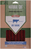 Old Wisconsin® Natural Cut™ Beef Sausage Hardwood-Smoked Snack Sticks 6 oz. Pack