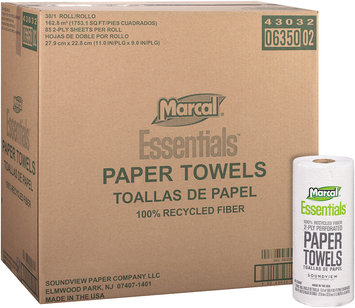 Marcal® Essentials™ 2-Ply Perforated Paper Towels 1 Roll Package