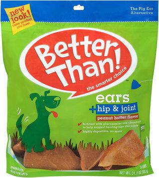 Better Than!™ Peanut Butter Flavor Ears + Hip & Joint Premium Dog Treats 31.1 oz. Bag