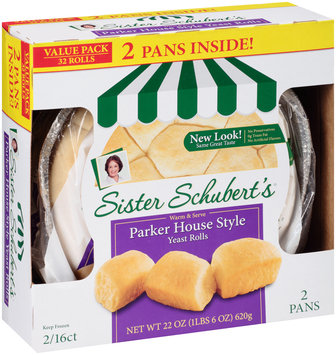 Sister Schubert's® Parker House Style Yeast Rolls 2-16 ct Packs