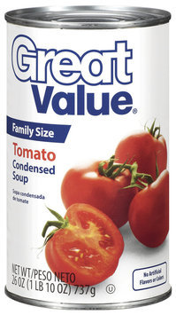 Great Value Family Size Tomato Condensed Soup 26 Oz Can