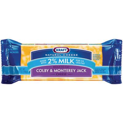 Kraft Natural Cheese Colby & Monterey Jack 2% Milk Reduced Fat Chunk Cheese 7 Oz Brick