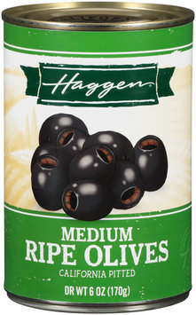 Haggen® Medium Ripe California Pitted Olives 6 oz. Can