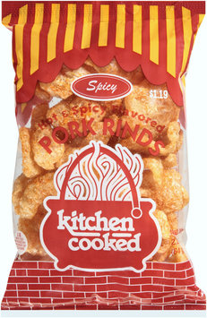 kitchen cooked hot & spicy flavored pork rinds $119 prepriced