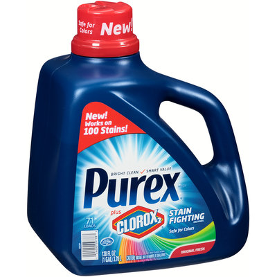 Purex® Plus Clorox2® Stain Fighting Enzymes Original Fresh Laundry Detergent 128 fl. oz. Plastic Jug