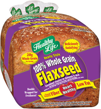healthy life® hearty style 100% whole grain flaxseed bread