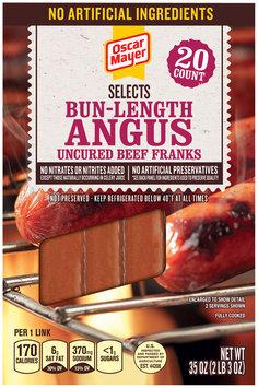 Oscar Mayer Selects Angus Beef Bun-Length Franks 20 ct Pack