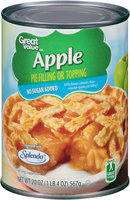 Great Value™ Apple No Sugar Added Pie Filling or Topping 20 oz. Can