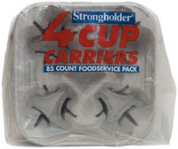 Strongholder® 4 Cup Carrier 85 ct Food Service Pack Bag