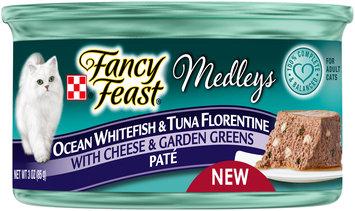 Purina Fancy Feast Medleys Ocean Whitefish & Tuna Florentine Pate Cat Food 3 oz. Can