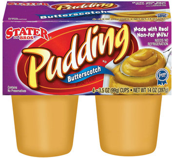 Stater Bros. Butterscotch Pudding 4 Ct Cups