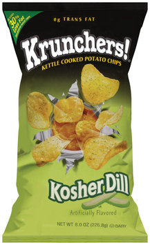 Krunchers!® Kettle Cooked Potato Chips Kosher Dill 8 oz.