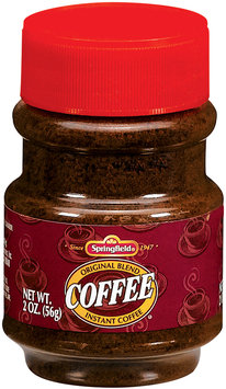 Springfield Original Blend Instant Coffee 2 Oz Plastic Bottle