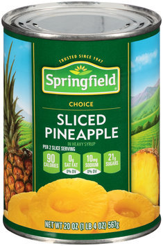 Springfield® Sliced Pineapple in Heavy Syrup 20 oz. Can