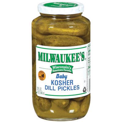 Milwaukee's Kosher Baby Dill Pickles 32 Fl Oz Jar
