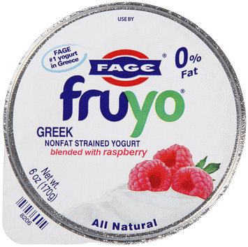 Fage® Fruyo® Greek Nonfat Strained Yogurt Raspberry 6 oz. Cup