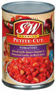 S&W® Petite-Cut Diced Tomatoes with Sweet Onions & Roasted Garlic
