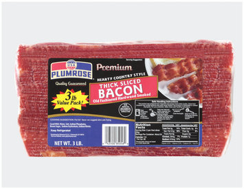 Plumrose Hearty Country Style Thick Sliced Bacon