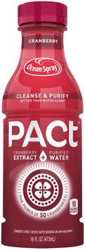 Ocean Spray® PACt™ Cranberry Water Beverage 16 fl. oz. Bottle