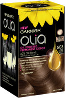 Garnier® Olia® Oil Powered Permanent Color Kit, 6.03 Light Neutral Brown