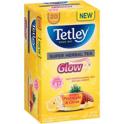 Tetley® Glow Pineapple & Citrus Super Herbal Tea Bags 20 ct Box