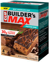 CLIF Builder's® Max Mint Chocolate Chip Protein Bars 4 ct Box