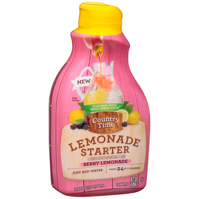 Country Time Lemonade Starter Berry Lemonade Liquid Drink Mix 18.2 fl. oz. Bottle