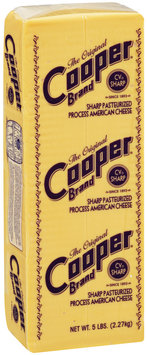 The Original Cooper® Brand Sharp Pasteurized Process American Cheese 5 lb brick.
