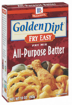 Golden Dipt All-Purpose Batter Fry Mix Fry Easy 10 Oz Box
