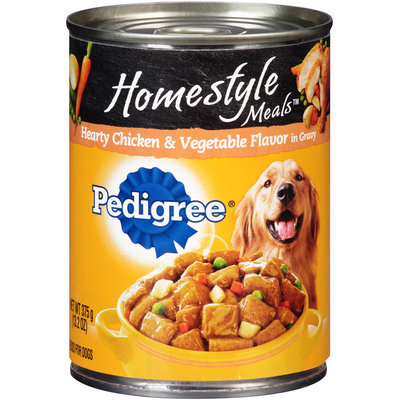 Pedigree® Homestyle Meals™ Hearty Chicken & Vegetable Flavor in Gravy Dog Food