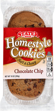 Stater Bros.® Homestyle Soft & Chewy Chocolate Chip Cookies 10 oz. Tray