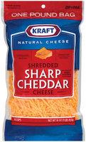 Kraft Natural Cheese Sharp Cheddar Shredded Cheese 16 Oz Zip Pak