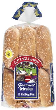 Cottage Hearth Hot Dog Gourmet Selection 12 Ct Buns 32 Oz Bag